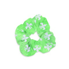 Royal1 White Marble & Green Watercolor (r) Velvet Scrunchie by trendistuff