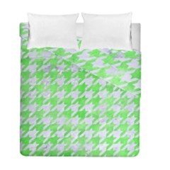 Houndstooth1 White Marble & Green Watercolor Duvet Cover Double Side (full/ Double Size) by trendistuff