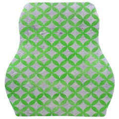 Circles3 White Marble & Green Watercolor (r) Car Seat Velour Cushion