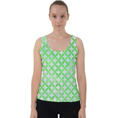 Circles3 White Marble & Green Watercolor (r) Velvet Tank Top