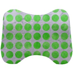 Circles1 White Marble & Green Watercolor (r) Head Support Cushion