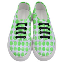 Circles1 White Marble & Green Watercolor (r) Women s Classic Low Top Sneakers