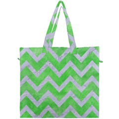 Chevron9 White Marble & Green Watercolor Canvas Travel Bag by trendistuff