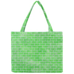 Brick1 White Marble & Green Watercolor Mini Tote Bag