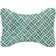 Woven2 White Marble & Green Marble (r) Seat Head Rest Cushion by trendistuff