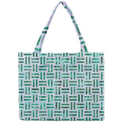 Woven1 White Marble & Green Marble (r) Mini Tote Bag by trendistuff