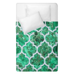 Tile1 White Marble & Green Marble Duvet Cover Double Side (single Size) by trendistuff