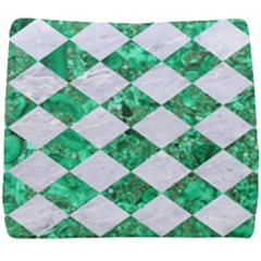 Square2 White Marble & Green Marble Seat Cushion by trendistuff
