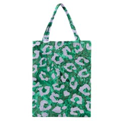 Skin5 White Marble & Green Marble (r) Classic Tote Bag by trendistuff
