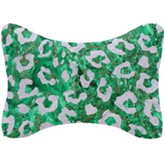 Skin5 White Marble & Green Marble (r) Seat Head Rest Cushion by trendistuff