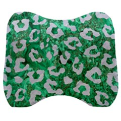 Skin5 White Marble & Green Marble (r) Velour Head Support Cushion by trendistuff