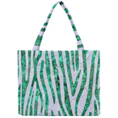 Skin4 White Marble & Green Marble Mini Tote Bag