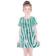 Skin4 White Marble & Green Marble Kids  Simple Cotton Dress by trendistuff