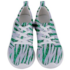 Skin3 White Marble & Green Marble (r) Women s Lightweight Sports Shoes