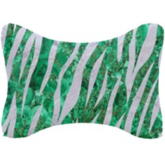 Skin3 White Marble & Green Marble Seat Head Rest Cushion by trendistuff