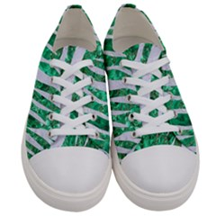 Skin3 White Marble & Green Marble Women s Low Top Canvas Sneakers