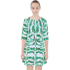 Skin2 White Marble & Green Marble Pocket Dress