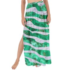 Skin2 White Marble & Green Marble Maxi Chiffon Tie Up Sarong by trendistuff