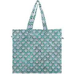 Scales2 White Marble & Green Marble (r) Canvas Travel Bag by trendistuff