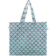Scales1 White Marble & Green Marble (r) Canvas Travel Bag by trendistuff