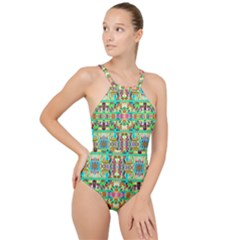 H 8 High Neck One Piece Swimsuit