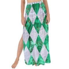 Diamond1 White Marble & Green Marble Maxi Chiffon Tie Up Sarong by trendistuff