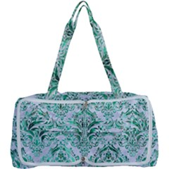 Damask1 White Marble & Green Marble (r) Multi Function Bag