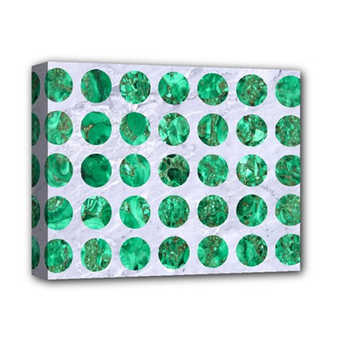 Circles1 White Marble & Green Marble (r) Deluxe Canvas 14  X 11  by trendistuff