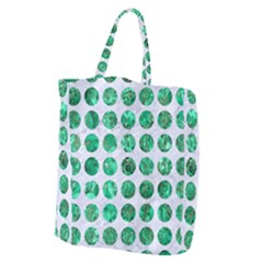 Circles1 White Marble & Green Marble (r) Giant Grocery Tote by trendistuff