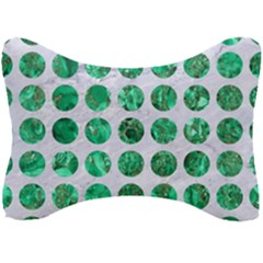 Circles1 White Marble & Green Marble (r) Seat Head Rest Cushion by trendistuff