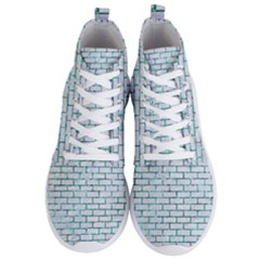 Brick1 White Marble & Green Marble (r) Men s Lightweight High Top Sneakers