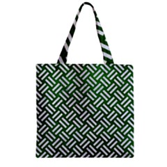 Woven2 White Marble & Green Leather Zipper Grocery Tote Bag by trendistuff
