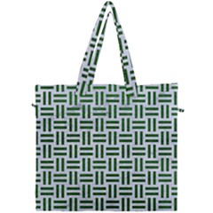 Woven1 White Marble & Green Leather (r) Canvas Travel Bag by trendistuff