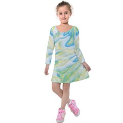 Ribbons Kids  Long Sleeve Velvet Dress by lwdstudio
