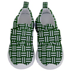 Woven1 White Marble & Green Leather Velcro Strap Shoes by trendistuff