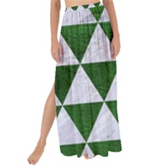 Triangle3 White Marble & Green Leather Maxi Chiffon Tie Up Sarong by trendistuff