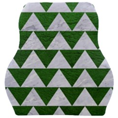 Triangle2 White Marble & Green Leather Car Seat Velour Cushion