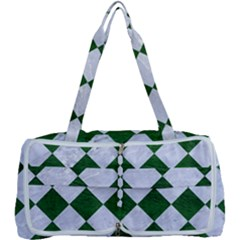 Square2 White Marble & Green Leather Multi Function Bag