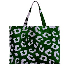 Skin5 White Marble & Green Leather (r) Zipper Mini Tote Bag by trendistuff