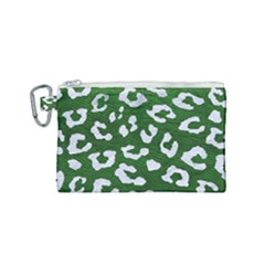 Skin5 White Marble & Green Leather (r) Canvas Cosmetic Bag (small) by trendistuff