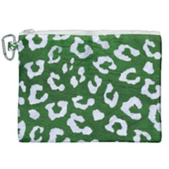 Skin5 White Marble & Green Leather (r) Canvas Cosmetic Bag (xxl) by trendistuff