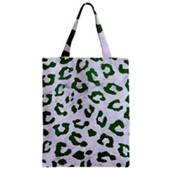 Skin5 White Marble & Green Leather Zipper Classic Tote Bag by trendistuff