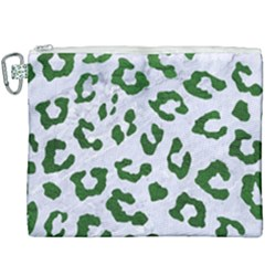 Skin5 White Marble & Green Leather Canvas Cosmetic Bag (xxxl)