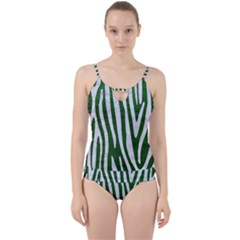Skin4 White Marble & Green Leather (r) Cut Out Top Tankini Set by trendistuff