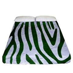 Skin4 White Marble & Green Leather Fitted Sheet (california King Size) by trendistuff