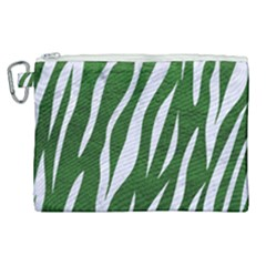 Skin3 White Marble & Green Leather Canvas Cosmetic Bag (xl)