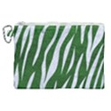 SKIN3 WHITE MARBLE & GREEN LEATHER Canvas Cosmetic Bag (XL) View1