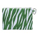 SKIN3 WHITE MARBLE & GREEN LEATHER Canvas Cosmetic Bag (XL) View2