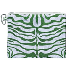 Skin2 White Marble & Green Leather (r) Canvas Cosmetic Bag (xxl) by trendistuff