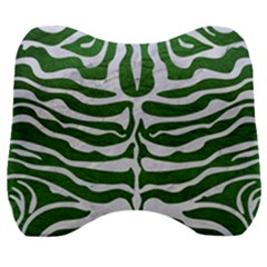 Skin2 White Marble & Green Leather Velour Head Support Cushion